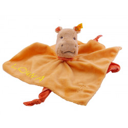 Doudou Hippopotame orange