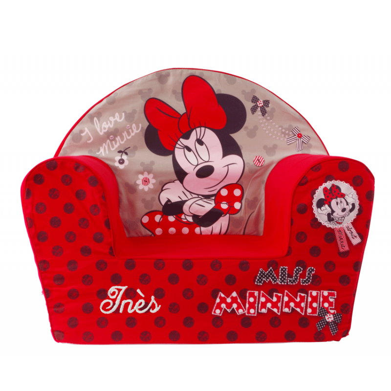 fauteuil enfant personnalis minnie disney ourson c lin. Black Bedroom Furniture Sets. Home Design Ideas