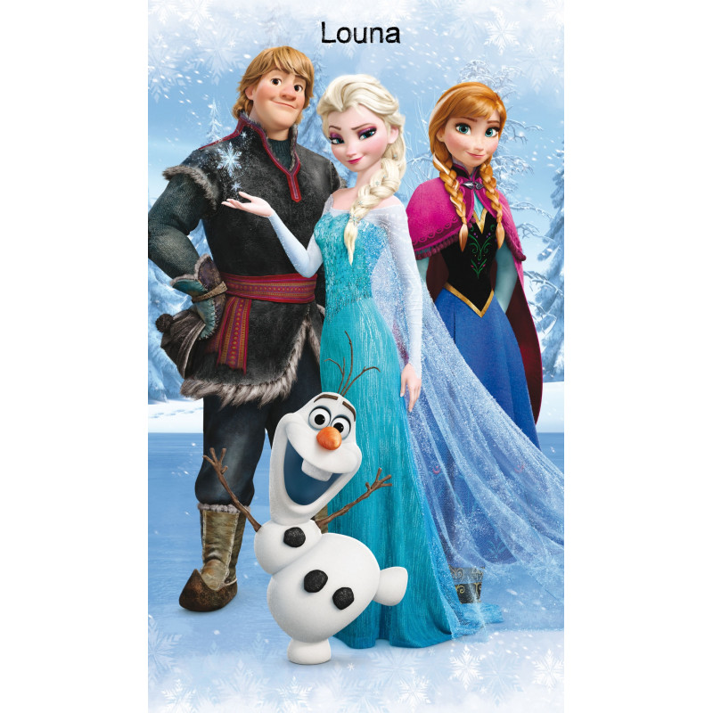 drap de plage personnalis reine des neiges disney. Black Bedroom Furniture Sets. Home Design Ideas