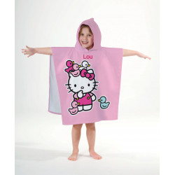 "Cape de bain ""Hello Kitty"""