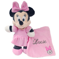 Peluche Minnie robe rose pastel