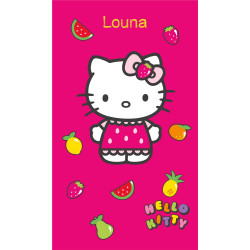 "Drap de plage ""Hello Kitty Fruity"""