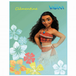 Plaid polaire Disney Vaiana Aloha