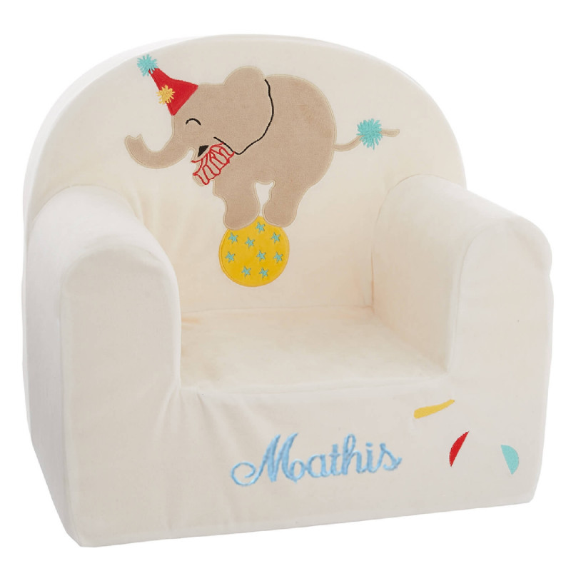 fauteuil enfant personnalis baby calin circus ourson c lin. Black Bedroom Furniture Sets. Home Design Ideas