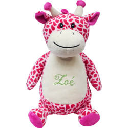 "Grosse Peluche Personnalisée - Girafe Rose ""Tumbleberry"""