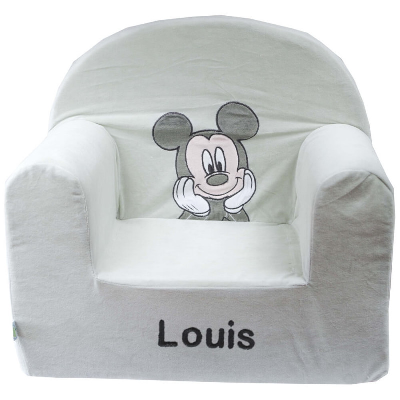 fauteuil enfant personnalis mickey disney baby ourson c lin. Black Bedroom Furniture Sets. Home Design Ideas