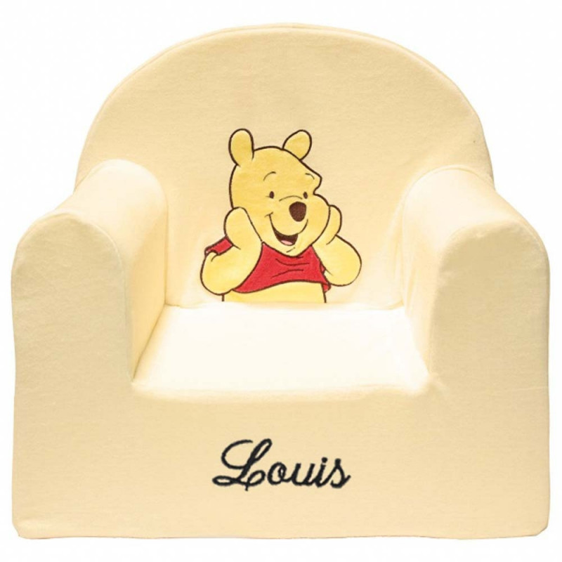fauteuil enfant personnalis winnie disney baby ourson c lin. Black Bedroom Furniture Sets. Home Design Ideas