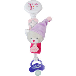 Doudou attache tétine luminescent - Chat