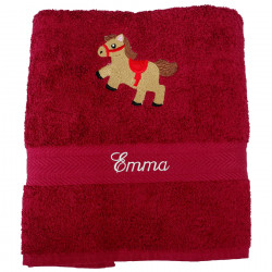 Serviette Cheval Galopin Bordeaux
