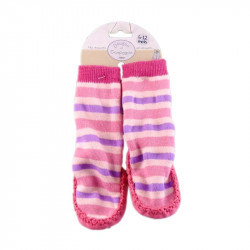 Chaussons Anti-dérapants - Rayures Girly