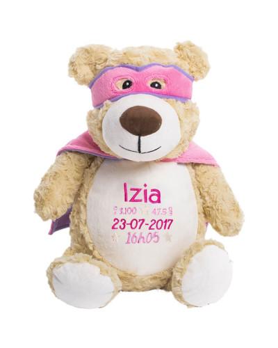 Grosse Peluche personnalisée - Hero Bear Rose