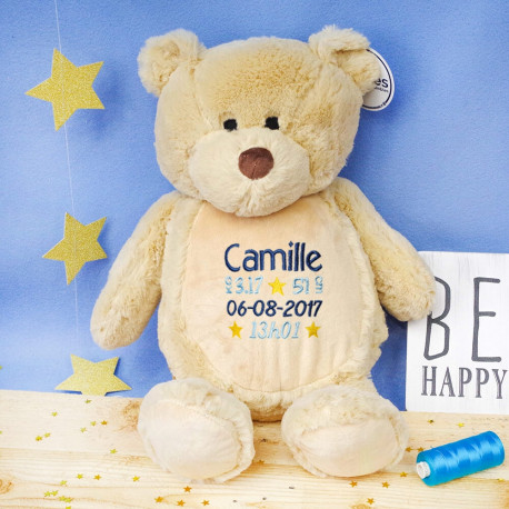 Grosse peluche personnalisée - Ours Teddy