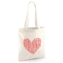 Tote bag Coeur design