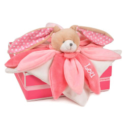 Doudou Collector Lapin rose