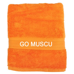 Serviette Orange pour le sport - Go Muscu