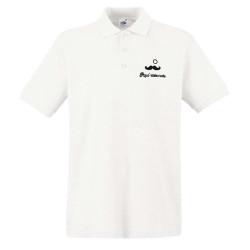 Polo Blanc Homme - Papa'ristocrate