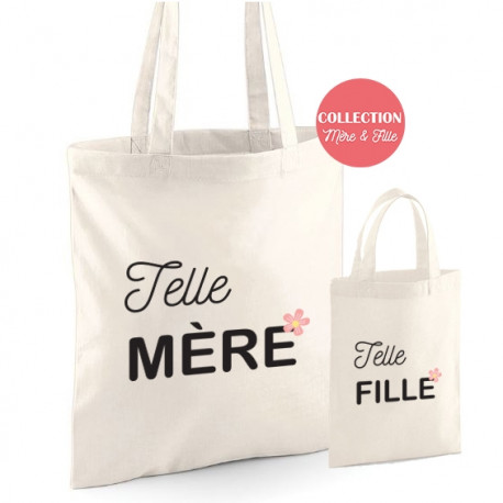 Duo Tote bag Telle Mère Telle Fille