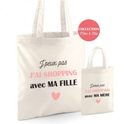 Duo Tote bag Mère Fille J'peux pas j'ai shopping