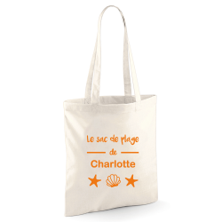 "Tote bag ""Le sac de plage de"" orange"