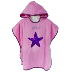 Poncho de bain Star rose