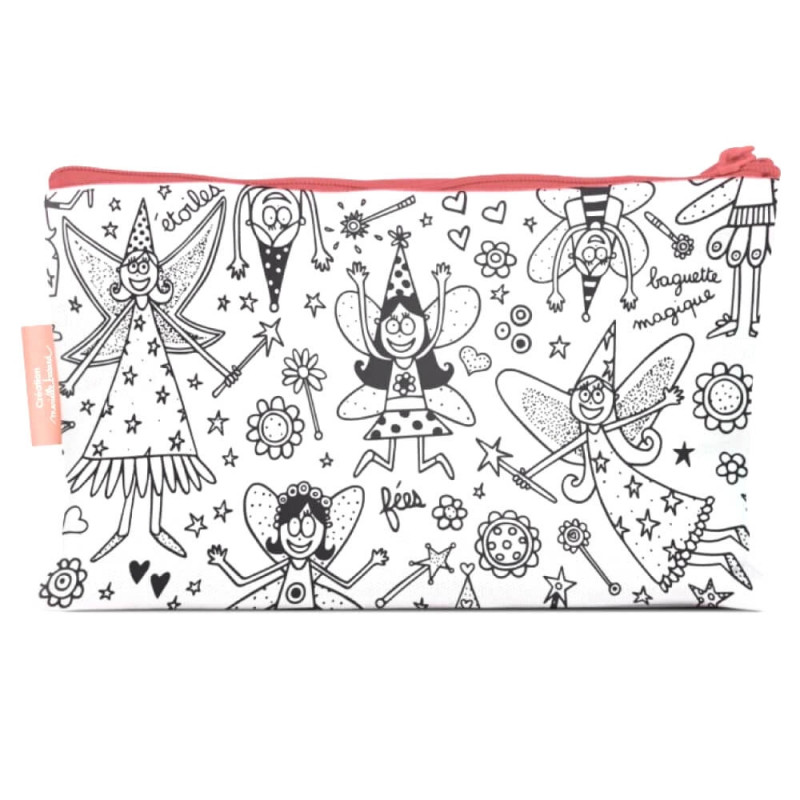 Coloriage Fee Bleue.Trousse Zippee A Colorier Avec Feutres Fees Ourson Calin