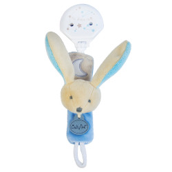 Doudou attache tétine luminescent - Lapin