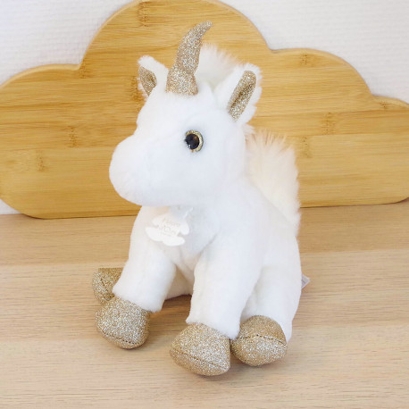 Peluche Histoire d'Ours - Licorne Or Glitter