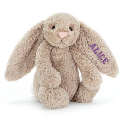 Peluche Lapin Taupe personnalisée