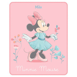 Plaid polaire Minnie Mouse - Minnie Fleur