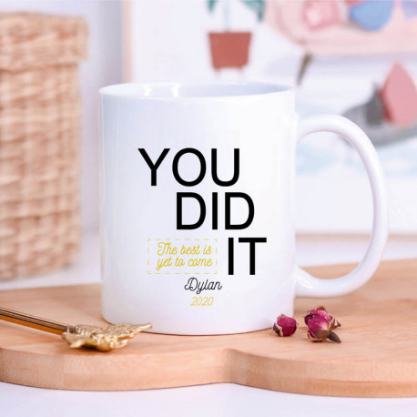 "Mug ""YOU DID IT"" Baccalauréat 2018 personnalisé"