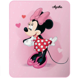 Plaid polaire Minnie Mouse personnalisé - Minnie Girly