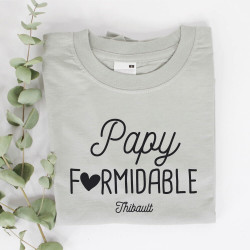 "T-shirt gris homme personnalisé - Collection ""formidable"""