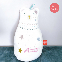 [AMY] Peluche musicale Dounimaux Ours Blanc personnalisée
