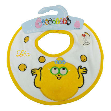 Bavoir Barbapapa jaune Barbidou - ourson câlin