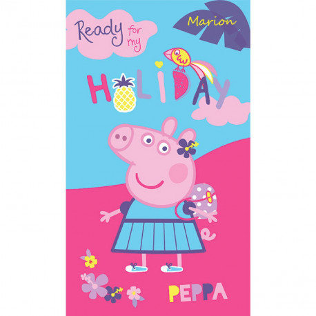 "Drap de plage - Peppa Pig ""Holiday"""