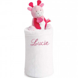 Couverture personnalisée Lovely Fraise - Girafe rose