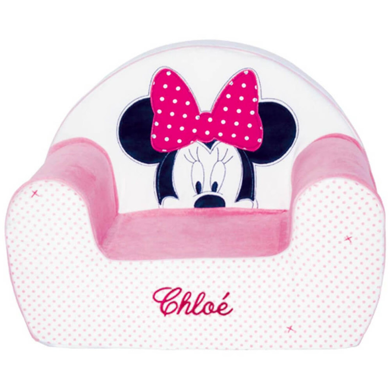 fauteuil club personnalis minnie disney baby ourson. Black Bedroom Furniture Sets. Home Design Ideas