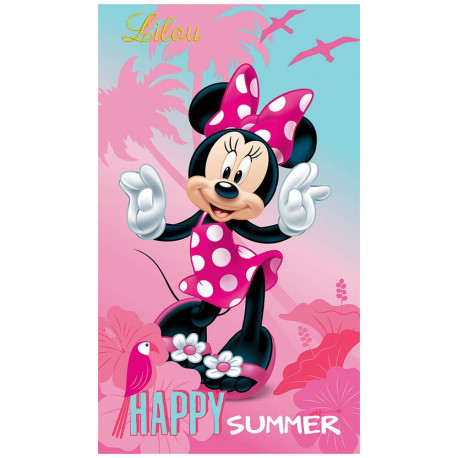 Drap de plage Minnie - Happy Summer