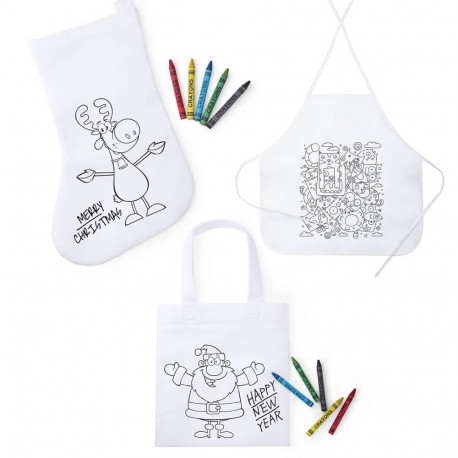 Totebag, Tablier ou Botte à colorier