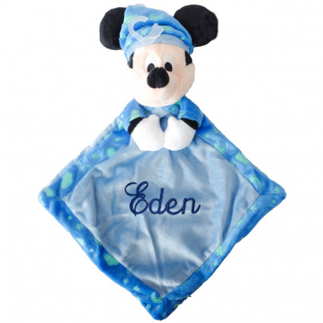 Doudou luminescent Disney - Mickey bleu
