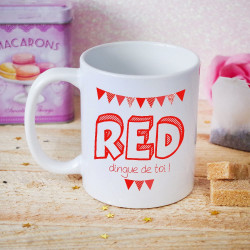 Mug Saint Valentin - RED dingue de toi !