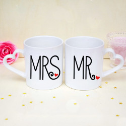 Mugs Saint Valentin - MRS & MR