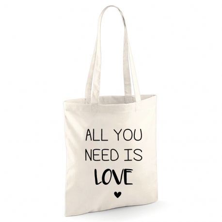 Tote bag All You Need Is Love