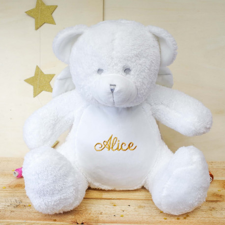Peluche Ours Ange personnalisée
