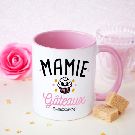 mug rose mamie g teaux id e cadeau grands m res ourson c lin. Black Bedroom Furniture Sets. Home Design Ideas