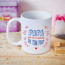 Mug Humour - Papa on en a marre de ton foot