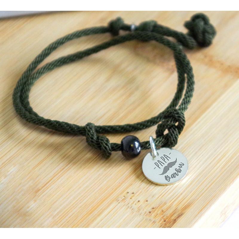Bracelet homme corde noire