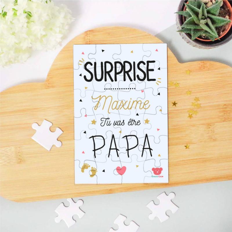 Puzzle annonce surprise futur papa